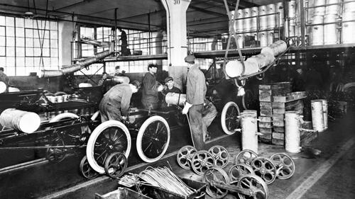 Assemblage bij Ford (1913)