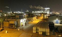De fabrieken van Kemira in de Botlek