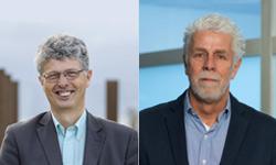 Lector Willem Foorthuis en CPO Piet Fellinger