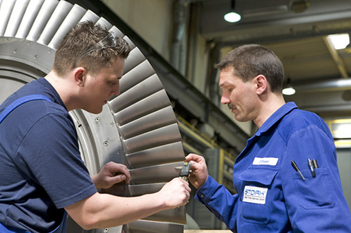 Stork Technical Services in Essen. Onderhoud van turbines is maatwerk